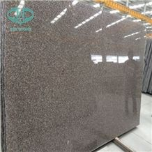 G664 Chinese Pink Granite ,Luna Pearl,Luoyuan Bainbrook Brown,Black Spots Brown Granite,Copper Brown,Loyuan Red,Misty Brown,Purple Pearl,Sunset Pink,Tea Brown,Vibrant Rose Polished Granite Slab