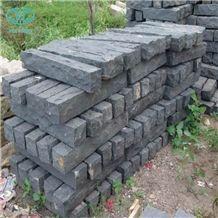 G685, Cheap Zhangpu Black Stone Split Palisade for Garden, Stone Basalt Palisade,Garden Palisade,Stone Fence Stone Pillar