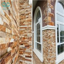 Golden slate Stone Siding,Stone Wall Veneer Stone,Cultural Stone for wall cladding