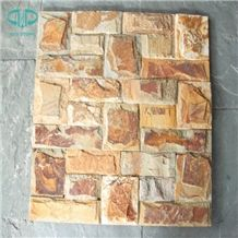 Golden Slate Stone Siding,Stone Wall Veneer Stone,Cultural Stone for Wall