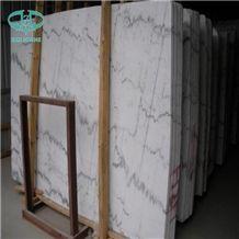 Guangxi White Cloud White Marble White Lightning China Carrara White Marble Polished Slabs and Tiles