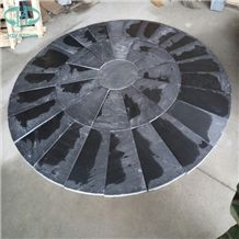 Hebei Black Slate, Round/Circular Shape Paving, Landscaping Stone,Paving Stone,Natural Stone,China Slate Stone