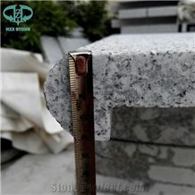 Light Grey G603 Bebate Bullnose Granite Stone Pool Coping Tiles,Swimming Pool Terraces Pavers