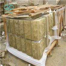 Natural Split Wall Stone Tiles, Building Ornaments, Beige Sandstone, Exterior Stone