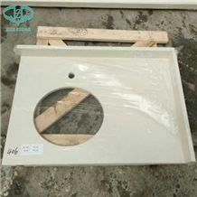 Professional Custom Bathroom Artificial White Quartz Countertops Vanity Tops Factory