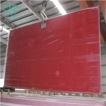 Red Quartz Stone Slab & Tile, Red Engineered Stone, Red Quartz Stone with Glass Mirror & Mirror Chips, Red Engineered Stone Walling & Flooring, Red Engineered Stone