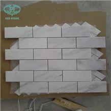 White Brick Mosaic, Danba White Marble Mosaic, Polished/Honed Mosaic for Wall&Floor