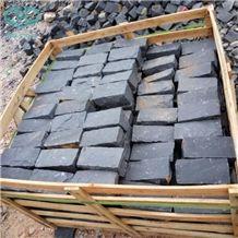 Zhangpu Black Basalt,Chinese Black Basalt Cube Stone,Cobble Stones, Natural Split Paving Stone,Natural Stone Paving Sets for Garden Stepping/ Driveway/Walkway/Exterior Paverment
