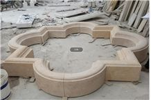 Beige Marble Exterior Fountain for Garden Foutains