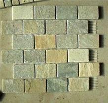 Himalaya Walling Quartzite Mosaic, Brick Mosaic