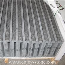 G684 Swimming Pool Tiles/Black Pearl Basalt/Pool Coping/Black Basalt /Rebated/Drop Face