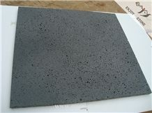 Hainan Lava Stone Tiles / Slabs, China Grey Basalt