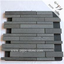 Mosaics/Grey Basalt Mosaic/Basalto/Andesite/Lava Stone Mosaic Tiles