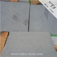 Sawn Basalt Sandblasted Tile, China Grey Basalt