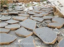 Zhangpu Black Basalt Flagstone, Irregular Flagstones, Flagstone Walkway Pavers