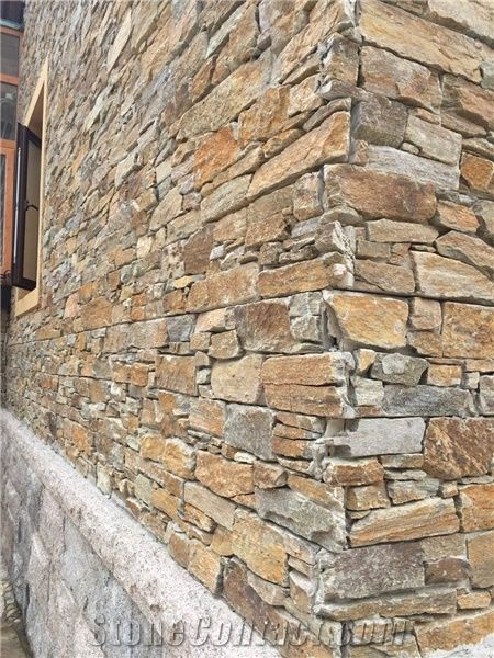 Natural Stone Cultured Stone Slate Wall Cladding Tile