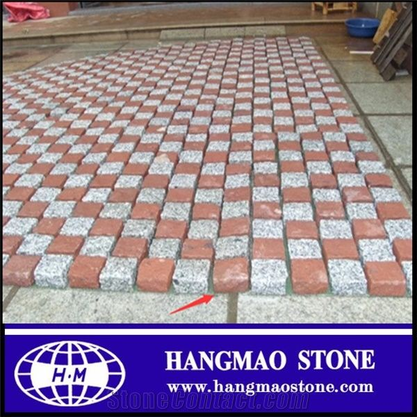 Red Granite Paving Stone Factory Qt3 20 Cabro Paving Block