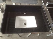 Black Galaxy Vanity Top, Black Granite Countertop, India Granite Vanity Top