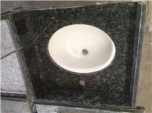 China Butterfly Green Granite Vanity Top, Green Granite Top, Bathroom Vanity Top