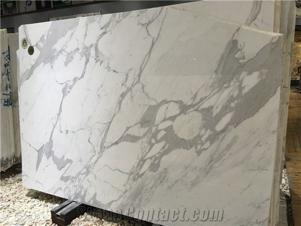 Italy Calacatta Marble Slab High Quality White Factory Price Tile