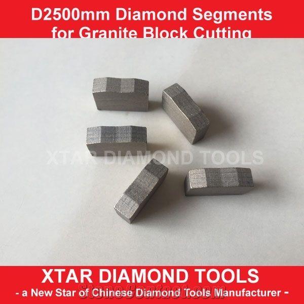 Xtar High Quality M Shape Granite Block Cutting Segments for Indian