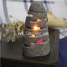 Bird Carved Stone Candelabrum,Lantern Holder