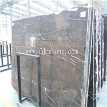St Laurant Marble,Marron Imperial Marble with White Line,Golden Brown Marble, Chocolate Brown Marble