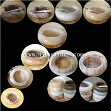 Wholesale Factory Price Onyx Stone Ashtray for Sale Polished Onyx Block for Craft