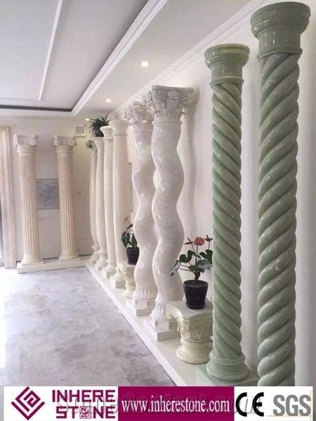 Hot Sale Decorative Wall Pillars Stone Column Top Roman