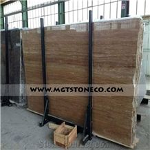 Iran Brown Travertine Slabs & Tiles