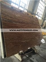 Iran Dark Brown Walnut Travertine Slabs & Tiles