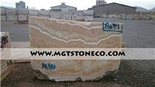 Iran Orange Onyx Blocks