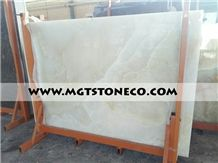 Pure White Onyx Tiles & Slabs, Polished Onyx Floor Tiles, Wall Covering Tiles