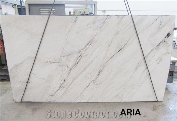 Aria White Quartzite Slab from Italy - StoneContact com