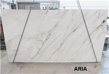 Aria White Quartzite Slab