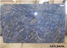 Azul Bahia Granite Slabs, Brazil Blue Granite