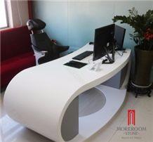 Irregular Shape Solid Surface Acrylic Table Top Desige