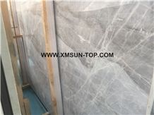 Polished chinese ice grey marble with unique decoration effect