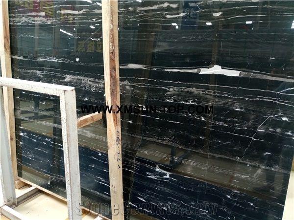 Silver dragon black marble slab silver line black marble slabs tiles