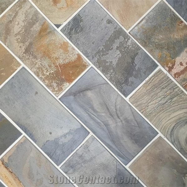 Slate Material Honey Tan Tile And Slab For Floor Tiles From China