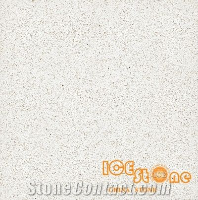 Beach White Color Quartz Stone Solid Surfaces Polished Slabs Tiles Engineered Artificial For Hotel Kitchen Bathroom Backsplash Walling