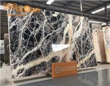 New Stone Black Jungle Marble Slabs/China Multicolor Slabs/Wall Covering Building Tiles/Floor Covering Natural Building Stone/Emperador Pattern Panels