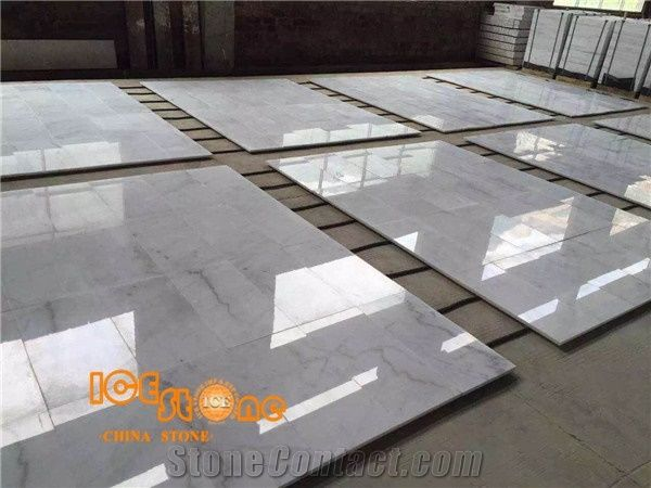 Sunny WhiteGuangxi WhiteChinese Carrara Marble TilesCut To Size - Carrara marble tile sizes
