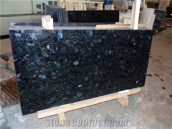 Black Labradorite Granite Tiles Slabs, Polished Flooring Tiles