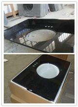 Vanity Top, Galaxy Black Granite Bath Tops