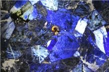 Azul Bahia Gemstone Slab /Brazil Azul Bahia Semi Precious Stone Slab/Blue Gemstone Slab /Natural Luxury Granite Slab/ Brazil Azul Bahia Granie Backlit Slab