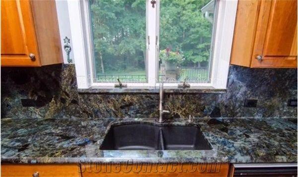 High Grade Labradorite Volga Blue Granite Countertops