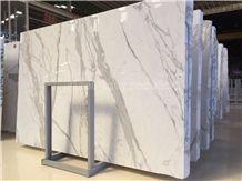 High Quality Italian Statuario Carrara Marble Slabs & Tiles/Italy White Marble/Statuario White Marble/Snowflake White/Bianco Statuario Venato/Snowflake White/Arabescato Corchia Tile & Slab
