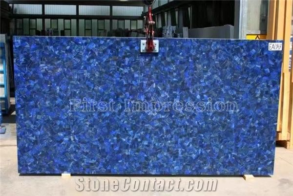 Lapis Lazuli Precious Stone Slabs Gemstone Semiprecious Slab And Ties Blue Semi Panels