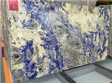 Sodalite Royal Blue Granite Tiles & Slabs/Blue Granite Floor & Wall Tiles/Luxury Blue Granite Big Slabs/Bolivian Granite Wall Floor Covering Tiles/High Grade Granite Slab